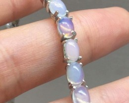 Amazing Nat 50.0tcw. Rainbow Fire Opal Bracelet Untreated