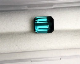 1.90 cts STEEL BLUE TOURMALINE - VVS - DEEP COLOR