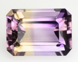 5.70 Cts Natural Bi Color Ametrine Octagonal Cut Bolivian Gem