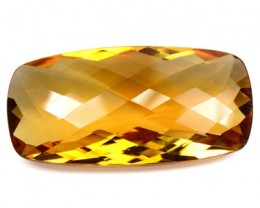 24.92 Cts Natural Golden Orange Citrine Cushion Cut Brazil Gem