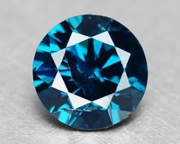0.08 Cts Natural Blue Diamond Round Africa