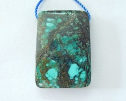 29x21x8mm Natural High Quality Turquoise Necklace Pendant Bead(17092305)