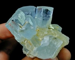See Vdo~559+ CT~Natural Terminated & Undamage Gemmy Sky Blue Aquamarine