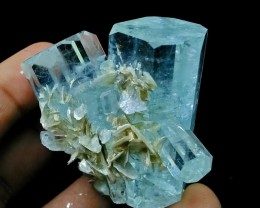 See Vdo~453+ CT~Natural Terminated & Undamage Gemmy Sky Blue Aquamarine