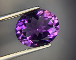 3.65 Ct Natural Amethyst Awesome Color & Luster Gemstone Kj17
