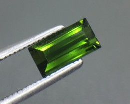 1.25 Ct Natural Green Tourmaline Awesome Color ~ Afghanistan Kj17