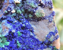 45.28g AZURITE SMITHSONITE ADAMITE CONICHALCITE LAVRIO MINES GREECE NR5
