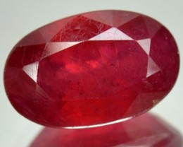 5.07 Cts Blood Red Ruby Oval Cut Thailand Gem