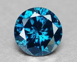 0.09 Cts Natural Titanium Blue Diamond Round Africa