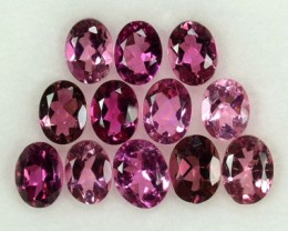 2.00 Cts Natural Sweet Pink Tourmaline Oval Cut 12 Pcs Parcel