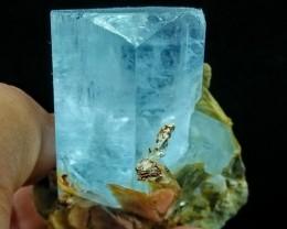 See Vdo~502+CT~Terminated~Gemmy~Undamage Sky Blue Aquamarine Bunch Spray Sp