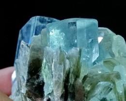 See Vdo~1159+ CT~Terminated~Gemmy~Undamage Blue Aquamarine Bunch Spray Spec