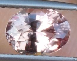 1.80cts, Certified Peach Sapphire,   Unheated,  Eye Clean