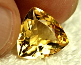 4.64 Carat VS Golden Brazil Beryl Trillion - Gorgeous
