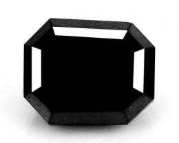 1.52 Cts Natural Black Diamond Emerald Cut Africa