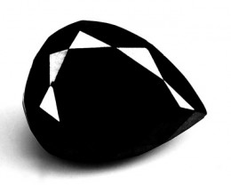 0.91 Cts Natural Black Diamond Pear (Drop Cut) Africa