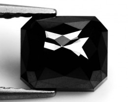 1.51 Cts Natural Black Diamond Rose Cut Africa
