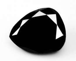 1.90 Cts Natural Black Diamond Pear (Drop Cut) Africa