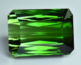 30.15 Cts Flawless Fine Stone Natural Green Tourmaline