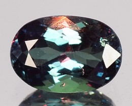 0.42 Cts Natural Color Change Alexandrite Oval Gem