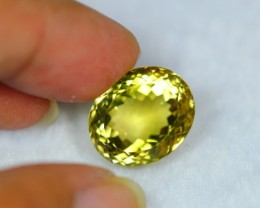 24.99Ct Natural Lemon Quartz Oval Cut