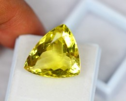 21.16ct Natural Lemon Quartz Triangle Cut Lot GB01