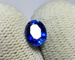 CERTIFIED 1.42 CTS NATURAL BEAUTIFUL CORNFLOWER BLUE SAPPHIRE SRI LANKA