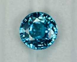 10.75 Cts Dazzling 12 mm Round Natural Blue Zircon