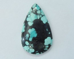 29X18X5mm Natural Turquoise Teardrop Cabochon For Silver Jewelry Design,Sem