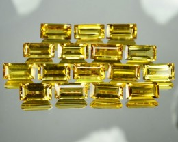 25.24 Cts Natural Golden Yellow Beryl Octagon Cut 16 Pcs Parcel