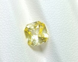 CERTIFIED 1.61 CTS NATURAL BEAUTIFUL OCTAGON MIX YELLOW SAPPHIRE CEYLON