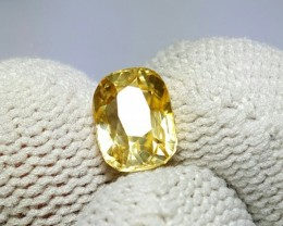 UNTREATED 2.72 CTS NATURAL BEAUTIFUL CUSHION MIX YELLOW ZIRCON
