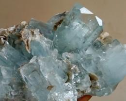 See Vdo~ 772 Gram Natural~Unheated~Terminated~ Blue Aquamarine Crystal Spec