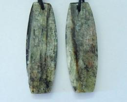 23CT Natural Green Kyanite Earring Pair For Women(17092708)
