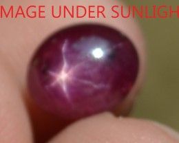 3.66 Ct Star Ruby CERTIFIED Beautiful Natural Unheated & Untreated