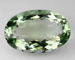 16.71 Cts Natural Green Amethyst/Prasiolite Oval Cut Brazil Gem