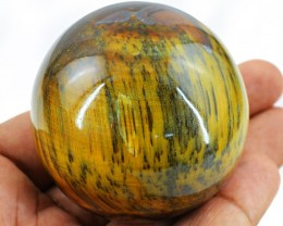 Genuine 532.50 Cts Golden Tiger Eye Healing Ball - Wow