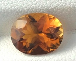 3.35ct Pretty Golden Orange Oval Tourmaline, VVS Tanzania AZ20