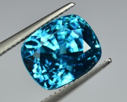 13.86 Cts Fascinating Lustrous Natural Eye Clean Deep Blue Zircon