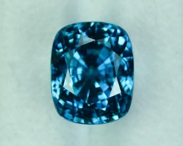 13.86 Cts Exquisite Lustrous Eye Clean Deep Blue Zircon