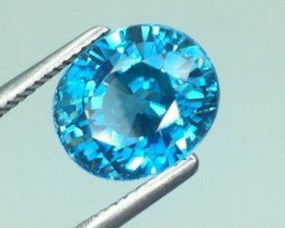 5.04 Ct Natural Zircon Awesome Color ~ Cambodia kj19