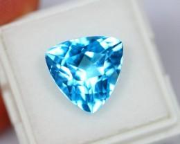 NR Auction Lot 10 ~ 9.69Ct Natural Trillion Cut Swiss Blue Topaz
