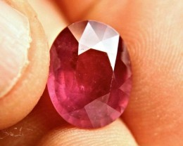 8.58 Carat Fiery Pigeon Blood Ruby