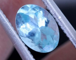 BLUE ZIRCON FACETED STONE 0.75  CTS PG-462
