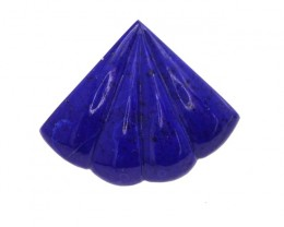 9.45cts Natural Lapis Luzuli Fluted Fan