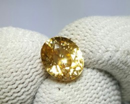 UNTREATED 2.69 CTS NATURAL BEAUTIFUL OVAL MIXED YELLOW ZIRCON