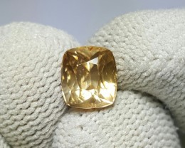UNTREATED 2.73 CTS NATURAL BEAUTIFUL CUSHION MIXED YELLOW ZIRCON