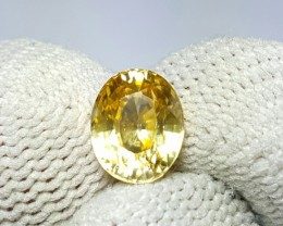 UNTREATED 2.29 CTS NATURAL BEAUTIFUL OVAL MIXED YELLOW ZIRCON
