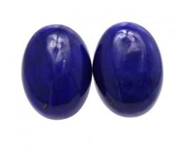10.65cts Natural Lapis Lazuli Matching Oval Cabochons