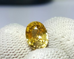 UNTREATED 2.95 CTS NATURAL BEAUTIFUL OVAL MIXED YELLOW ZIRCON
